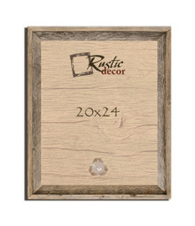 20x24 Rustic Reclaimed Barn Wood Signature Wall Frame
