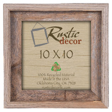 10x10 Rustic Reclaimed Barn Wood Signature Wall Frame