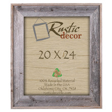 "20x24 Premium (4"") Rustic Reclaimed Barn Wood Wall Frame"