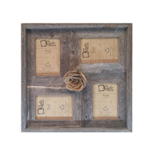 4x6 Multi-Direction Rustic Barn Wood Collage Frame