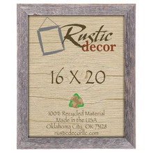 16x20 Rustic Reclaimed Barn Wood Standard Wall Frame