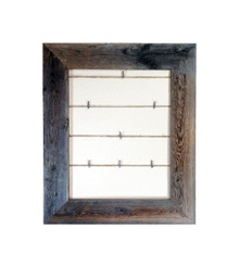 Barn Wood Twine Collage Photo Frame (12 pins included)