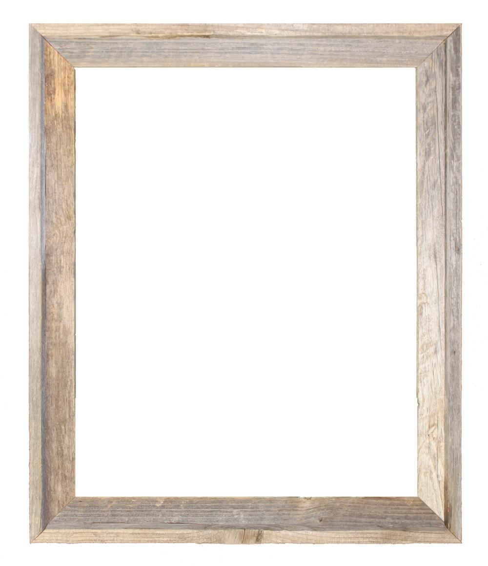 12x18 Picture Frames – Reclaimed Barn Wood Open Frame (No Plexiglass ...