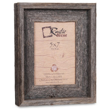 5x7 Rustic Reclaimed Barn Wood Signature Photo Frame