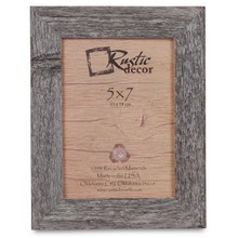 5x7 Rustic Reclaimed Barn Wood Standard Photo Frame