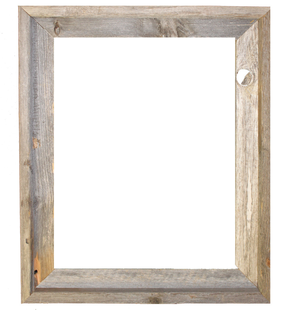 White Wood Frame : 16x20 Picture Frames – Barnwood Reclaimed Wood Open Frame (No ...