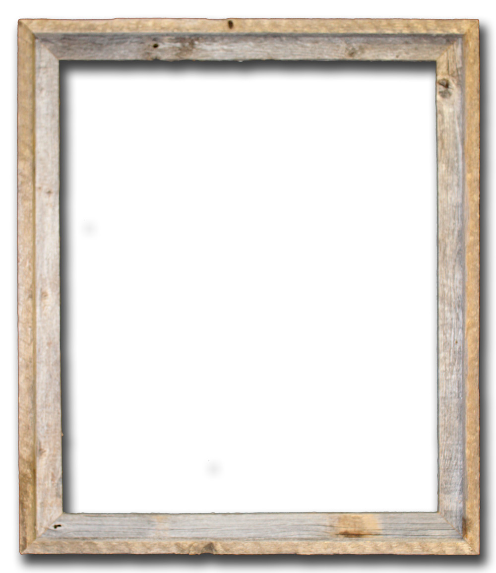 22x28 Picture Frames u2013 Barnwood Reclaimed Wood Open Frame (No ...