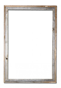 24x36 Picture Frames – Reclaimed Barn Wood Signature Open Frame (No Plexiglass or Back)