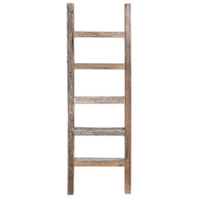 Decorative Ladder – Reclaimed Old Wooden Ladder 4 Foot Rustic Barn Wood