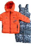 Rugged Bear 2T-4T Boys 2-Piece Snowsuit Orange/Camo