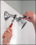 Remove the Old shower head shut off valve