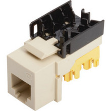 Quickport 6-Conductor Telephone Jack -Wh