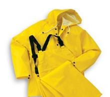 2X Yel Rain Jacket Hood Snaps