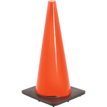 "28"" Bright Orange PVC Traffic Cone"