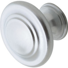 "1-1/4"" Decorative Cabknob-Satin Chrome"