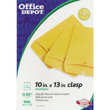 """Clasp Envelopes 10""""X13"""" Br """"Pkg Of 100"""""""