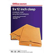 """Clasp Envelopes 9""""X12"""" Br """"Pkg Of 100"""""""