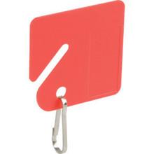 "Red Plastic Key Tags ""Pkg Of 20"""