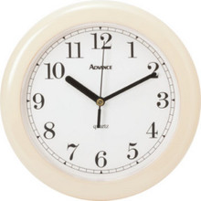 "8"" Wall Clock-Almond"
