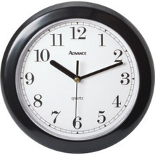 "8"" Analog Wall Clock - Black"