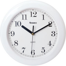 "8"" Analog Wall Clock - White"