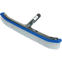 "18"" Kemtek Curved Metal Back Wall Brush"