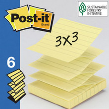 "3""X3""Popup Yellow 100Shts ""Pkg Of 6"""