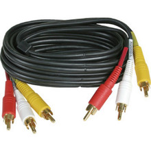 6Ft Stereo Dubbing Cables-Triple Rca