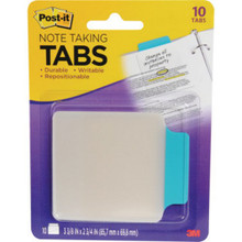 Aqua/Clear Post-It Note Taking Tabs