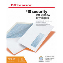 #10 Security Window Envelopes Box Of 500