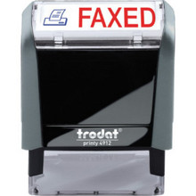 "65% Recycled Self-Inking Stamp ""Faxed"""