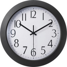 "Office Depot 12"" Flat-Panel Rnd Clock"