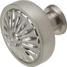 "1-1/4"" Decorative Cab Knob-Satin Nickel"