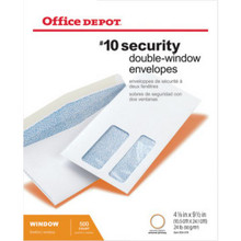 Office Depot Double-Window Envel