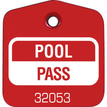 Recreational Pool Pass, Red Package Of 100