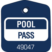 Recreational Pool Pass, Blue Package Of 100