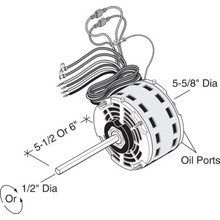 Replacement Direct Drive Blower Motor With Permanent Split Capacitor