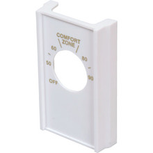 White Double Pole Line Volt Thermostat Cover
