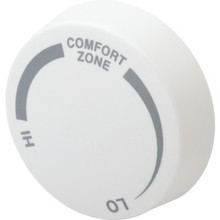 Cadet White Single Pole Baseboard Thermostat Knob