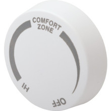 Cadet White Double Pole Baseboard Thermostat Knob
