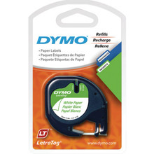 "DYMO Blk/Wh Elec Lbl Tapes ""Pkg of 2"""