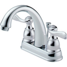 Delta Windemere Lavatory Faucet Chrome Two Handle With Pop-Up