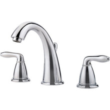 Pfister Serrano Widespread Lavatory Faucet Chrome Two Handle With Pop-Up