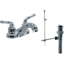 HBC Non-Metallic Lavatory Faucet Chrome Two Handle With Pop-Up