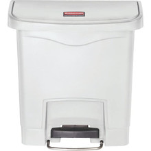 Rubbermaid Slim Jim Step-On, 4 Gallon Resin Front Step White