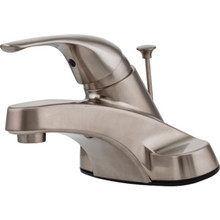 Pfister Pfirst Series Lavatory Faucet Brushed Nickel Single Handle With Pop-Up