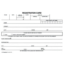 Registration Card White Package Of 100