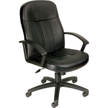 Boss Black Leather Desk Chair