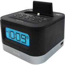 iHome Hotel Lightning Dock Clock Radio with USB Dock for Your iPhone or iPod