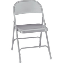 NPSC Gray Steel Folding Chair Package Of 4